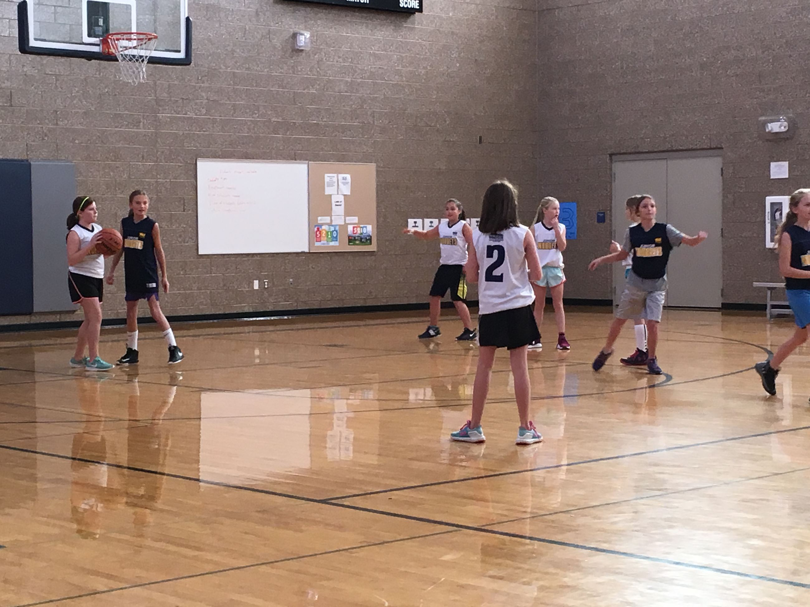 Girls Youth Basketball Game